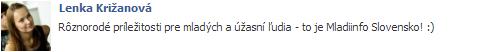 lenka_krizanova_o_mladiinfo_slovensko_referencie